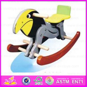 2015 Happy Wooden Kids Riding Horse Toy, Interesting Children Plush Rocking Toy, Best Selling Wooden Rocking Horse Toy Wjy-8204 pictures & photos