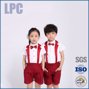 2016 OEM Custom Short Sleeve High Quality School Uniform for Children pictures & photos