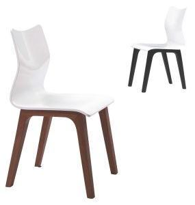 High Glossy Painting S Shade Dining Chair (B77)
