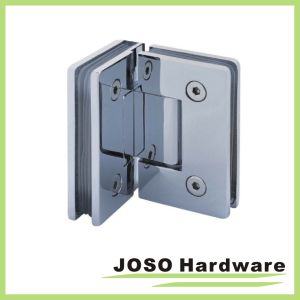90 Degree Glass to Wall Brass Shower Hinge Bh1001 pictures & photos