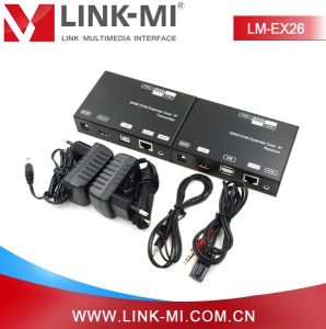 Lm-Ex26 1080P USB Kvm 120m TCP IP HDMI IR Over Cat5e/6 Extender