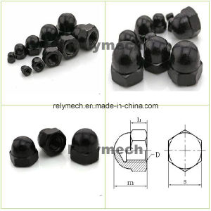 Black Zinc Round Head/Hex Head Cap Nut for Fasteners pictures & photos