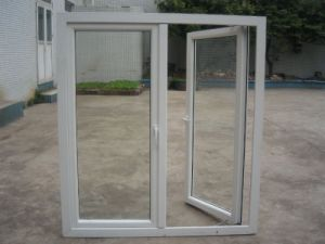 Round Top Aluminum Casement Window with Sill, Popular in Arabic Market pictures & photos