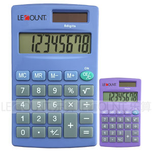 8 Digits Dual Power Handheld Calculator with Various Optional Colors (LC332)