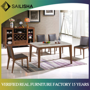 Modern Design Marble Dining Table Set 6 Seater With Bench Kitchen Dining Room Furniture Set