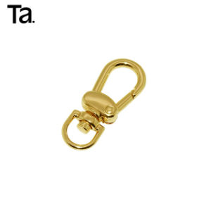 Swivel Eye Snap Hook Set of 10 Light Gold