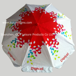Quality Robust Beach Umbrella in Double Ribs and PVC Cover pictures & photos