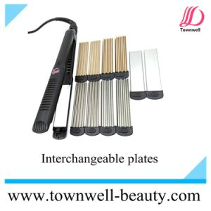 Multi Function LED Digital Hair Straightener with Different Plates