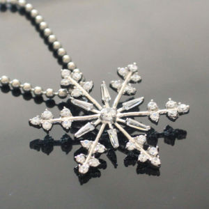 Christmas Sterling Stainless Steel CZ Stone Snowflake Pendant pictures & photos