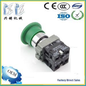 Xb2-BS532 Green Color Mushroom 40mm Head Emergency Stop 22mm Push Lock Turn Release Push Button Switch pictures & photos