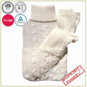 Cable Knit with Socks Set Hot Water Bottle Cover pictures & photos