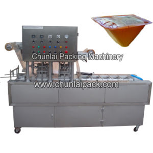 Sandwich Tray Map Sealing Machine pictures & photos