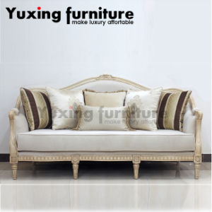 Merveilleux Classical Fabric Sofa Set Traditional Home Couch With Carved Wood Trim For  Living Room