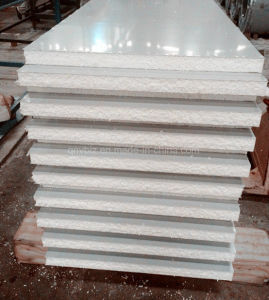 Cheap EPS (Polystyrene foam) Sandwich Panel EPS Wall Panel Made of Corrugated Steel Sheet PPGI Profiled Steel Sheet Color Coated Steel Sheet pictures & photos