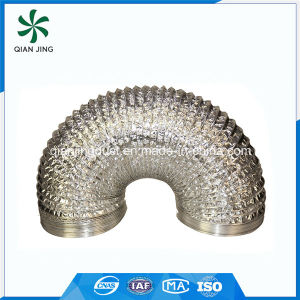 Double Layer Air Conditioning Aluminum Flexible Duct for HVAC Systems pictures & photos