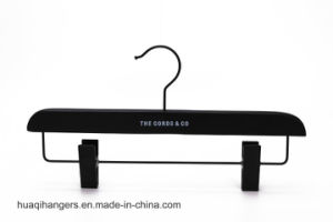 Luxury Durable Blue Wooden Hanger with Notch pictures & photos