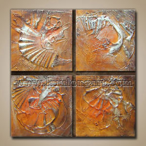 4 Panels/Set Thick Oil Modern Textured Painting on Canvas (KLMA4-0016)