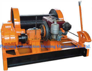 Diesel Engine Powered Winch Lever Control Forward and Reverse Running pictures & photos