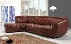 Corner Leather Sofa (838)
