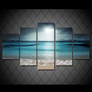 HD Printed Beach Ocean Sea Sunset Painting Canvas Print Room Decor Print Poster Picture Canvas Mc-093 pictures & photos