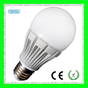 7W E27 SMD LED Bulb with Plastic Body and Glass Cover