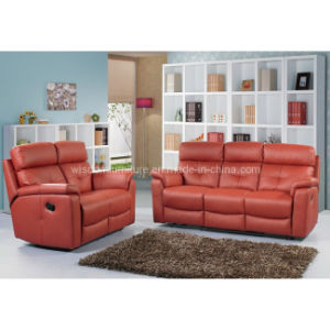 Genuine Leather Recliner Sofa (R-3018)