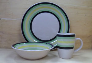 12PCS Hand Painted Ceramic Dinnerware Set (WSY1025S)