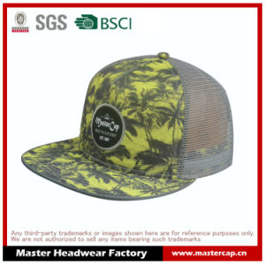 Flat Brim Trucker Hat with Sublimation Printing