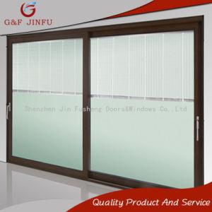 Metal Large Panel Sliding Door Double Glass Door With Shutters