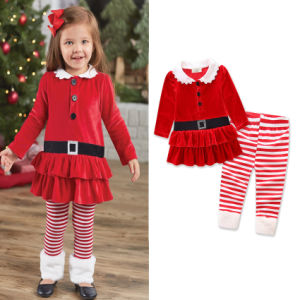 toddler kids baby christmas clothes santa striped princess dress baby jumsuit baby romper