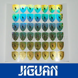 Holographic 3D Display Metalized Clear Sticker pictures & photos