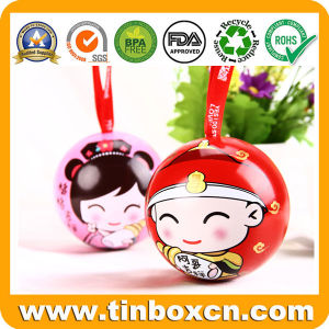 Custom Christmas Gift Tin Box Packaging Ball Tin pictures & photos