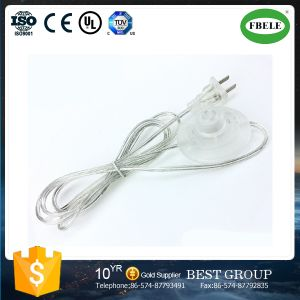 Transparent Foot Switch Power Cord Floor Lamp Plug Wire pictures & photos