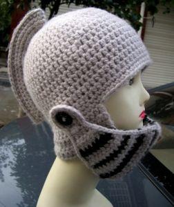 China Hand Knit Crochet Knight Helmet Hat 6cceac92b37