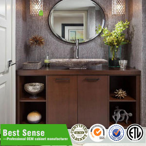 Hot Sale Wall Mounted Wooden Veneer Bathroom Cabinet pictures & photos