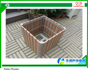 Shenzhen Fengyuan Outdoor Furniture Co. Ltd. & Hot Sale HDPE Plastic Wood Garden Flower Pot Containers/ Flower Planter