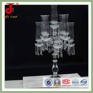Crystal Glass Candle Holder with Light Cover (JD-CC-003) pictures & photos