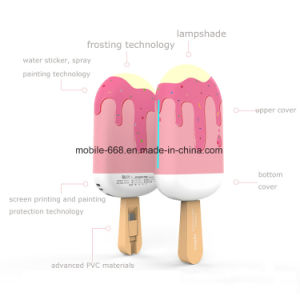 Ice Cream Factory Cartoon Power Bank with LED Light
