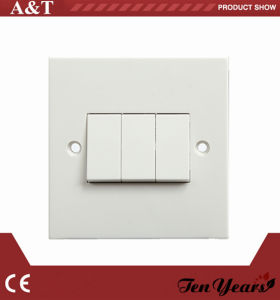 CE Approved A014 Single Gang Triple Way Wall Switch