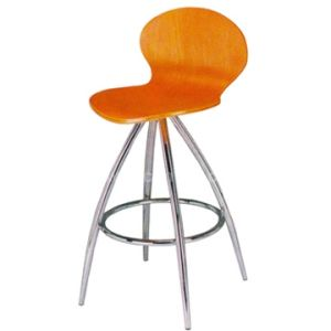 Laminate Wood Bar Stool (WD-06054) pictures & photos