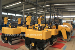 800 Kg Hand Guided Small Vibratory Double Drum Roller with Hydraulic Steering (FYL-800C) pictures & photos