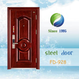 China Newest Develop and Design Single Steel Door (FD-928) pictures & photos
