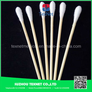 Personal Care Sterile Wooden Stick Ear Cotton Buds pictures & photos