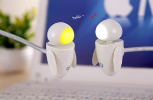 Cute Mini Robot Baby USB LED Night Light 360 Degree Adjustable Lamp pictures & photos