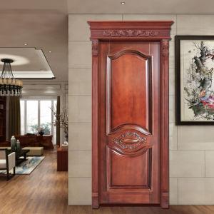 New Style Solid Wooden Door Soundproof Fire Rated Wooden Door Price