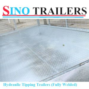 Galvanised Check Steel Plate Cage Tipping Trailer