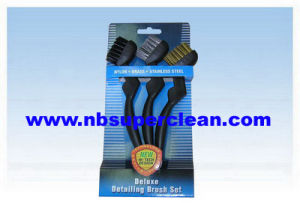 Nylon Brass Steel Industrial Car Wash Brush Set, Auto Rust Wheel Cleaning Brush (CN1827) pictures & photos