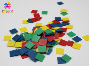 Math Toy/Plastic Inch Color Tiles pictures & photos