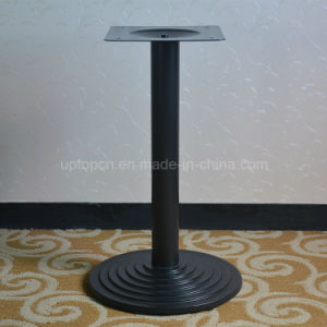 Strong Black Metal Single Leg Round Dining Table Base (SP-MTL169) pictures & photos