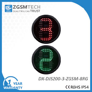200mm 8 Inch One Digital Countdown LED Traffic Light Colour